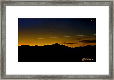 Into The Sunset Framed Print by John Selmer Sr