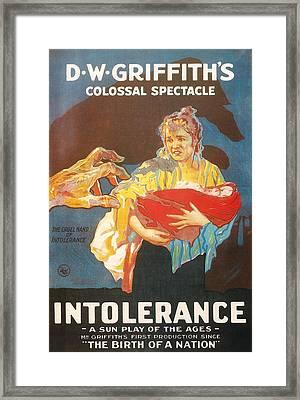 Intolerance Framed Print