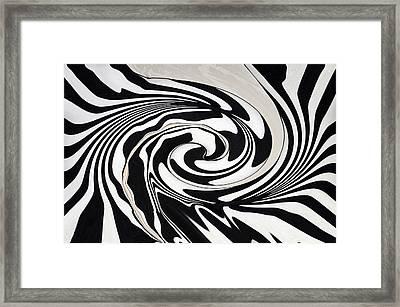 Intoxicated Zebra..... Framed Print by Tanya Tanski