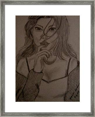 Intrigued Framed Print by Maria Medina