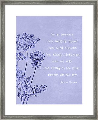 Introvert Framed Print by Tia Helen