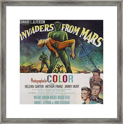 Invaders From Mars, Bottom Left Framed Print by Everett