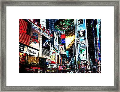 Invasion Framed Print by ABA Studio Designs