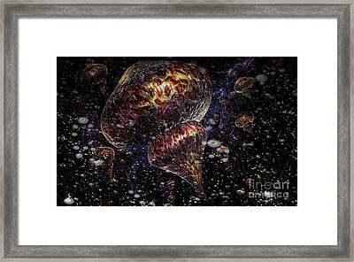 Invasion Of Medusa Framed Print by Jan Willem Van Swigchem