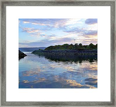 Framed Print featuring the photograph Inverkip Marina by Lynn Bolt