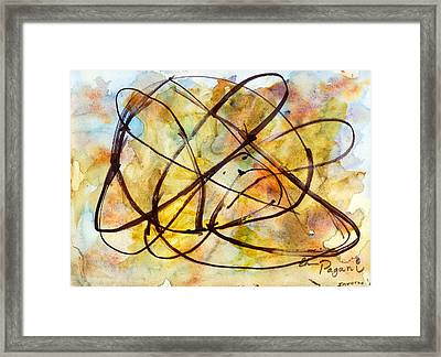 Inverno Abstract Watercolor Framed Print