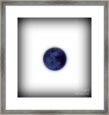 Inverted Moon Framed Print by Elizabeth Hernandez