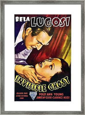 Invisible Ghost, From Left Bela Lugosi Framed Print by Everett