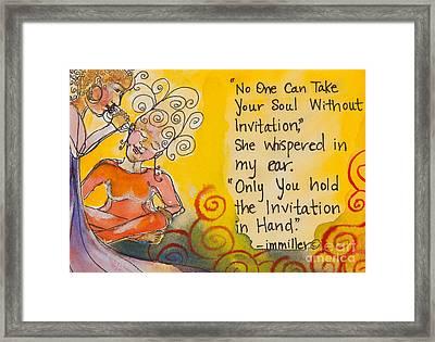 Invitation In Hand Framed Print by Ilisa Millermoon