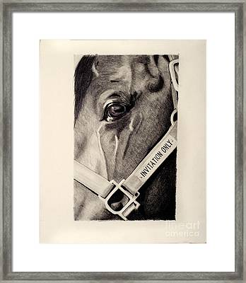 Invy Framed Print by Denise Gordon