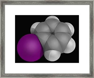Iodobenzene Molecule Framed Print by Laguna Design