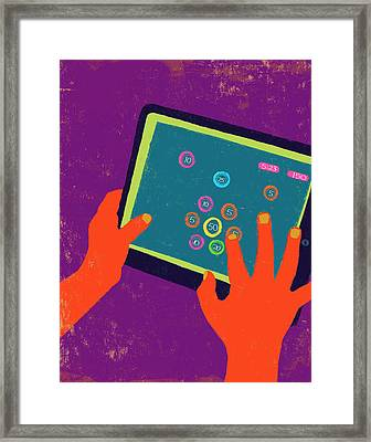 Ipad Graphic Poster Illustration. Framed Print