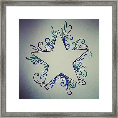#iphonecase #iphone5 #star #whimsical Framed Print
