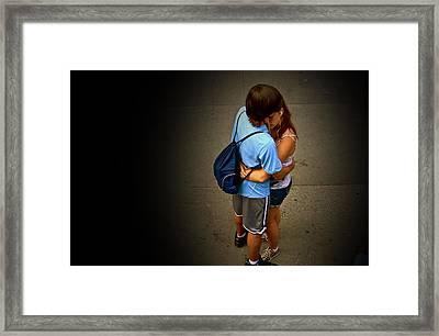 iPod Love Framed Print by Frank SantAgata