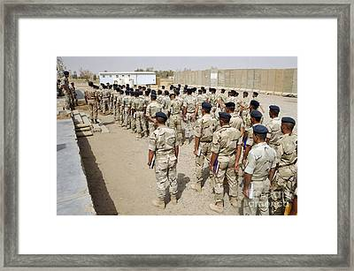 Iraqi Air Force College Cadets March Framed Print by Stocktrek Images