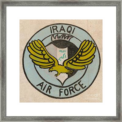 Iraqi Air Force Crest Framed Print by Unknown