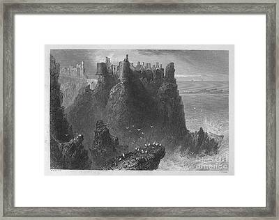 Ireland: Dunluce Castle Framed Print by Granger