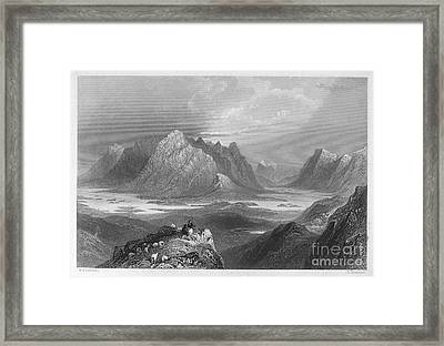 Ireland: Lough Inagh, C1840 Framed Print by Granger