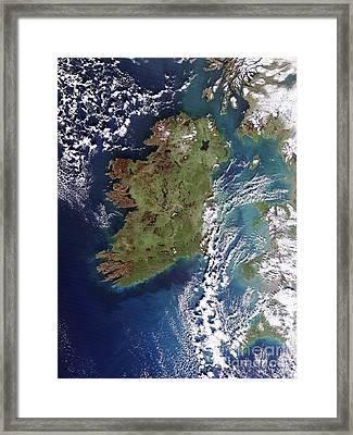 Ireland, True-color Terra Modis Framed Print by NASA / Science Source