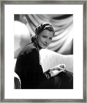 Irene Dunne, Paramount Pictures, 1939 Framed Print by Everett