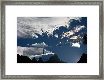 Iridescent Sunset Framed Print by Amelia Racca