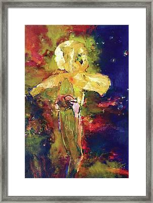 Iris Cosmic Framed Print by Petro Beva