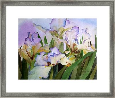 Framed Print featuring the painting Iris IIi by Richard Willows