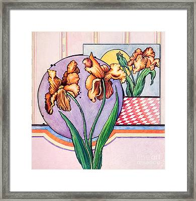 Iris Reflection Framed Print