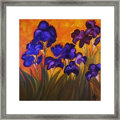 Irises In Motion Framed Print