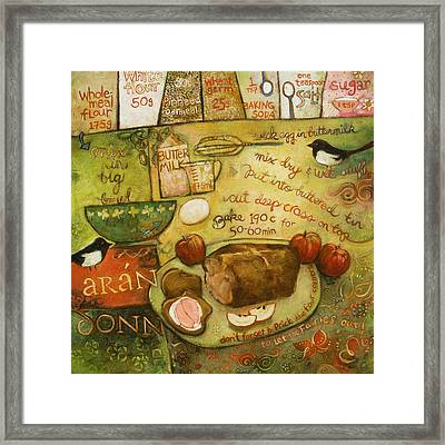 Irish Brown Bread Framed Print