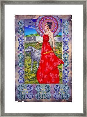 Irish Celtic Fantasy Art Print - Boann Bru Na Boinne Framed Print