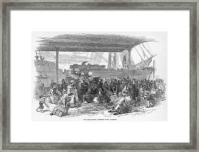 Irish Emigration Framed Print by Granger