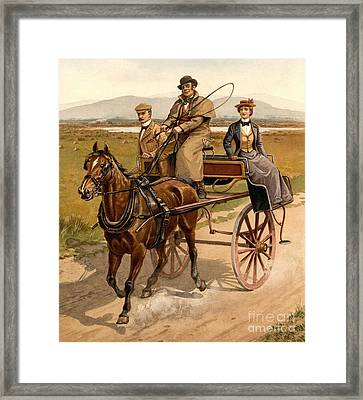 Irish Jaunting Car Framed Print