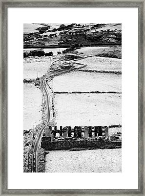 Irish Old Building And Countryside Framed Print