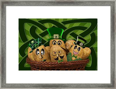 Irish Potatoes Framed Print by Trudy Wilkerson