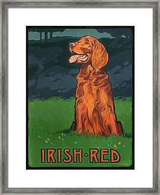 Irish Red Framed Print by Shawn Shea