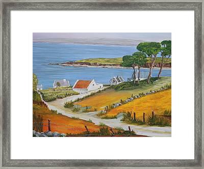 Irish Seaside Village Framed Print by Siobhan Lawson