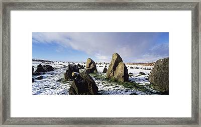 Irish Snow Scenes Co Tyrone, Beaghmore Framed Print by The Irish Image Collection