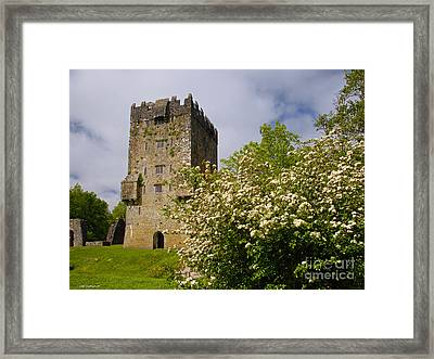 Irish Travel Landscape Aughnanure Castle Ireland Framed Print by Nature Scapes Fine Art