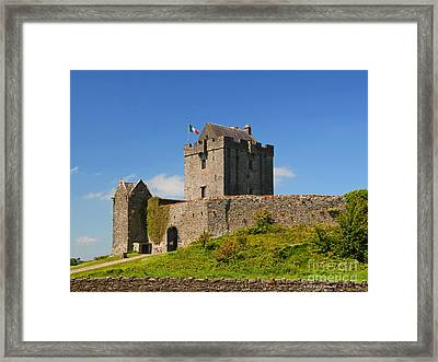 Irish Travel Landscape Dunguaire Castle Ireland Framed Print