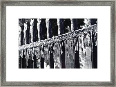 Iron And Ice 3 Framed Print by Elizabeth Sullivan
