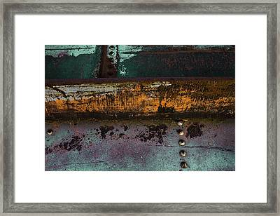Iron And Rust Framed Print