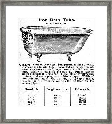 Iron Bathtub, 1900 Framed Print