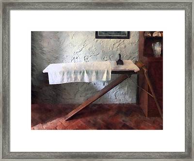 Iron Board And Iron Framed Print