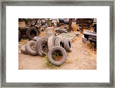 Iron Boneyard 1 Framed Print by Matthew Angelo