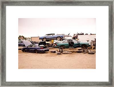 Iron Boneyard 3 Framed Print by Matthew Angelo
