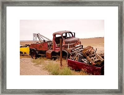 Iron Boneyard 4 Framed Print by Matthew Angelo