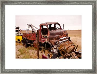 Iron Boneyard 5 Framed Print by Matthew Angelo