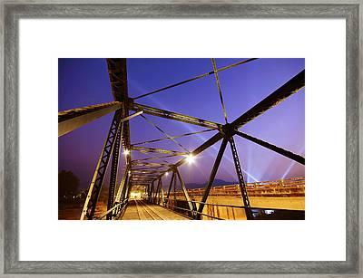 Iron Bridge  Framed Print by Setsiri Silapasuwanchai