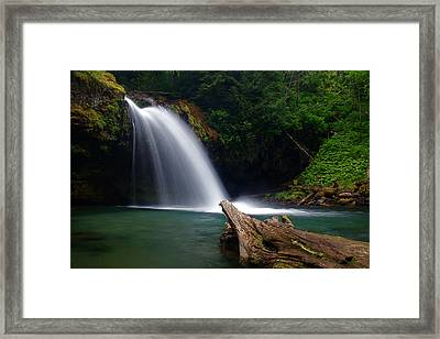 Iron Creek Falls 3 Framed Print by Marcus Angeline